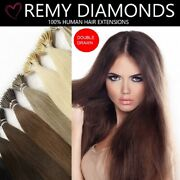 18 Double Drawn Nano Ring Tip Indian Remy Human Hair Extensions 3 13 Shades Uk