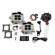 Fitech Fuel Injection System 34061 Go-efi 2x4 And Hy-fuel 625 Hp Tbi Bright