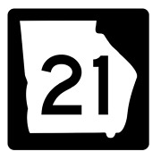 Georgia State Route 21 Sticker R3570 Highway Sign