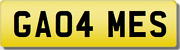 Games Sports Ames Ga04 Mes Private Cherished Registration Number Plate