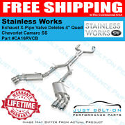 Stainless Works 2016-2021 Camaro Ss Exhaust X-pipe Npp Valve Deletes 4 Ca16rvcb
