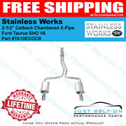 Stainless Works 2010-18 Taurus Sho V6 2-1/2in Catback Chambered X-pipe Ta10ecocb
