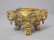 Well Hand Carved Chinese Shou-shan Stone Censer