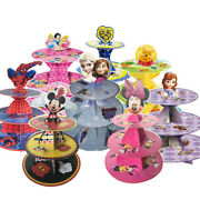 Kids Birthday Party Cupcakes Stand Supplies Cartoon Characters Party Decorations