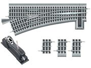 O-gauge - Lionel - Fastrack O72 Left-hand Remote/command Switch