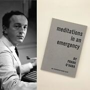 Meditations In An Emergency Frank Oand039hara Books Poems Poetry Rare Mad Men