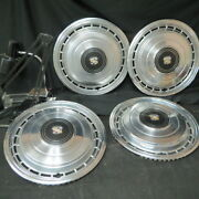 4 Vintage Hubcaps / Wheel Covers For 15 Cadillac Hearse 1979 Auction Find