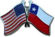Wholesale Pack Of 50 Usa American Chile Friendship Flag Bike Hat Cap Lapel Pin