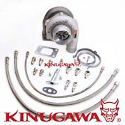 Kinugawa Ball Bearing Turbo 3 Gtx3067r W/ .61 T3 For Nissan Rb25det Top Mount