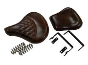 Royal Enfield Standard Bike Front And Rear Brown Color Seats
