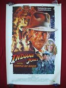 Indiana Jones And The Temple Of Doom 1984 Original Movie Poster 1sh Rolled Nm-m