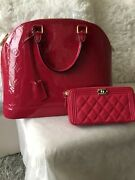 Auth Louis Vuitton Alma Mm Vernis Indien Rose Euc Discontinued Sz