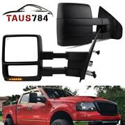 Pair Of Towing Mirrors For 2004-2006 Ford F150 Extendable Power Heated Signal