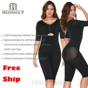 Fajas Colombianas Full Body Arm Shaper Post-surgery Body Suit Powernet Girdle