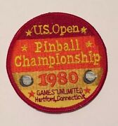 Retro Rare Embroidered Us 1980 Pinball Championship Vintage Sew On Patch