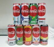 Full Set 2018 Fifa World Cup Russia Set 9 Cans Thailand Coke