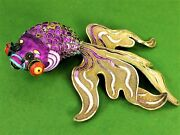 Chinese Fish-carassius. Articulated. Silver Vermeil. CloisonnÉ. China. Circa1920