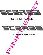 2-scarab Offshore Decal Vinyl Sticker Off Shore Boat Boats Decals Graphic 60