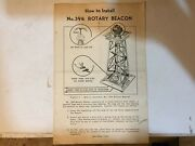 Vintage Lionel Rotary Beacon 394 Paperwork Dated 8-49