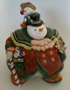 Fitz And Floyd Essentials Snowman Cookie Jar Fitz And Floyd Christmas Holiday