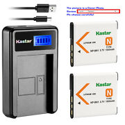 Kastar Battery Lcd Usb Charger For Sony Np-bn1 Npbn1 And Sony Cyber-shot Dsc-wx9