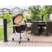 Ceramic Charcoal Grill Smoker Cooker Portable Barbeque Outdoors Char Broil Oven