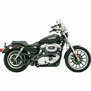 Bassani Black Radial Sweepers Exhaust Fits 2007- 13 Harley Sportster Xl4-ff12clb