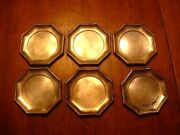 6 Antique 19thc German Lutz And Weiss .835 Silver Coaster Plates
