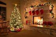Christmas Xmas Tree Decorations Glossy Poster Picture Photo Print Lights 4132
