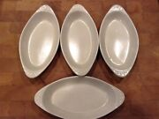 Vintage H.f. Coors Chefsware Usa 75h Augratin Plates No Signs Of Use