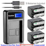 Kastar Battery Lcd Charger For Sony Np-qm71d And Sony Cyber-shot Dsc-f707 Dsc-f717