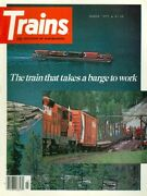 1977 Trains Magazine The Train The Takes A Barge To Work