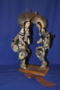 Pair Of Grass Dancer Dolls From Author Thomas E. Mails Collection 14 X 17
