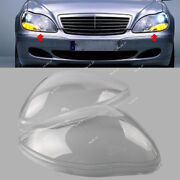 For Mercedes Benz W220 98-05 S-class Clear Lens Shell Cover Headlight L+r Set