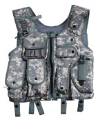 Swat Vest Tactical Vest With Holster Security Paintball Acu-tarn M L Xl Xxl 2xl