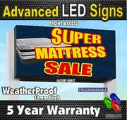 10mm Led Digital Display Full Color Programmable Led Sign 1x6 Feet_made In Usa