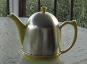 Antique Hall Canary Yellow Lipton Teapot And Lid With Metal Cosy - Vgc - Rare