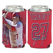 Mike Trout Los Angeles Angels Soft Foam Can Bottle Coozie Koozie Cooler Holder
