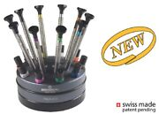 Bergeon 7965-s10 Stand With 10 Watchmaker Screwdrivers With Special Profile