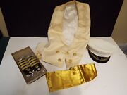 Wwii Navy Chaplain Archive - Formal Dress Uniform Insigniaand039s See Description