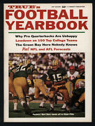 1967 True's Football Yearbook Bart Starr Super Bowl One Nfl And Afl Forecast