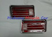 Rear Bumper Tail Lamp Light Lens L And R Pair 70 1970 Chevy Chevelle Malibu
