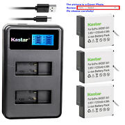 Kastar Battery Lcd Dual Charger For Gopro Ahdbt-501 Gopro5 Gopro Hero 5 Hd Black