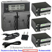 Kastar Battery Lcd Dual Fast Charger For Canon Bp-970g And Canon G10hi G15hi G20hi