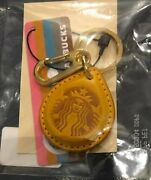 Starbucks Beams Touch The Drip Yellow Key Chain Very Rare Limited From Japan