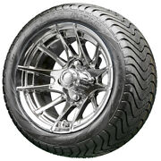 12 Rhox Rx102 Chrome Golf Cart Wheels And Low Profile Tires Combo Set Of 4