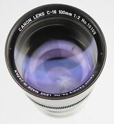 Canon Tv-16 100mm F2 Sony A7 Mount 61805 .......... Minty W/boxcaps