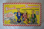 Vintage Blondie And Dagwood Interchangeable Wood Blocks Puzzle Game - 1951 - Ob