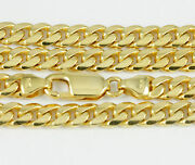 8-24 5.1mm 14k Yellow Gold Domed Link Chain New Solid Italian Necklace 2422