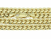 8.5-24 5.6mm 14k Yellow Gold Domed Link Chain New Solid Italian Necklace 2431
